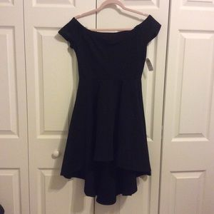 NWT Windsor Black Hi Lo Skater Dress